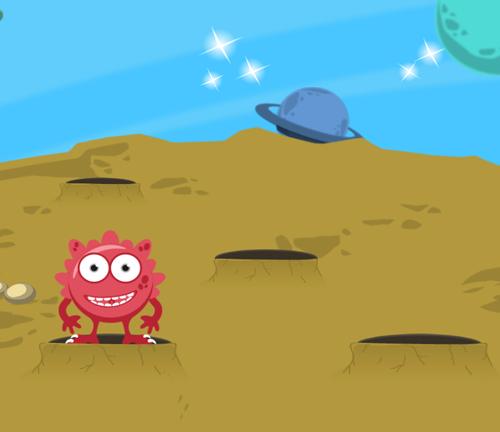 Captura del juego whackamonster.